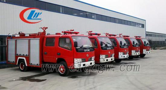 东风小型3吨水罐消防车